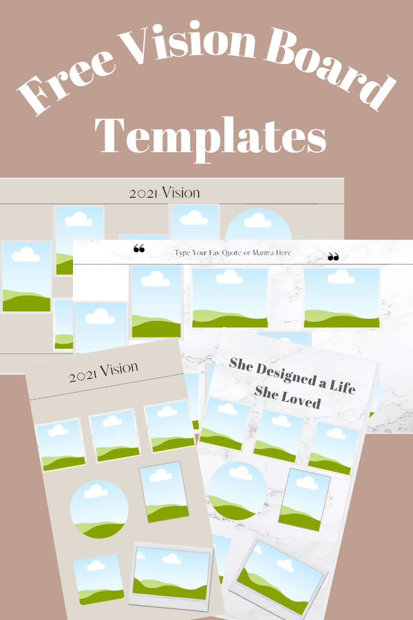 free vision board template 2021