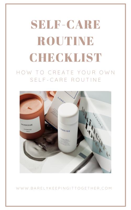 Self-Care Routine Checklist